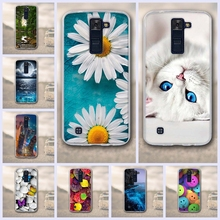 "Case For LG K8 Lte K350 K350E K350N 5.0"" K 8 Phone Back Cover Phoenix 2 Escape 3 Bag Case 3D Relief Printing Silicone Case Cover"