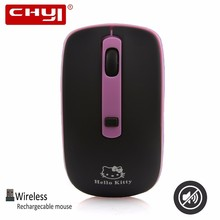 CHYI Wireless Hello Kitty Mouse Optical Computer Mute Mice Adjustable DPI 1000/1200/1600 Mini Gaming Mause For Gamer Kids Gift