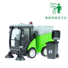 KAIWEI alloy road sweeper Sanitation garbage disposal streetcar Toys Die-cast Clean Car Models with sound and light Chidren gift(China)