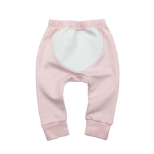 Baby Pants Spring&Autumn Heart-shaped pattern Infant Baby Girl Pants Embroidery pattern Baby Clothing 100% Cotton(China)