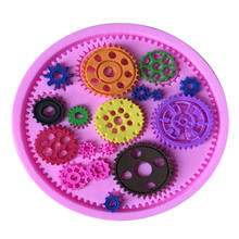 Kinds Of Gear Shape Silicone Cake Mold Bake ware Mold For Cookie Chocolate Jelly Clay Sugar Craft Fondant Cake Decorating Tools