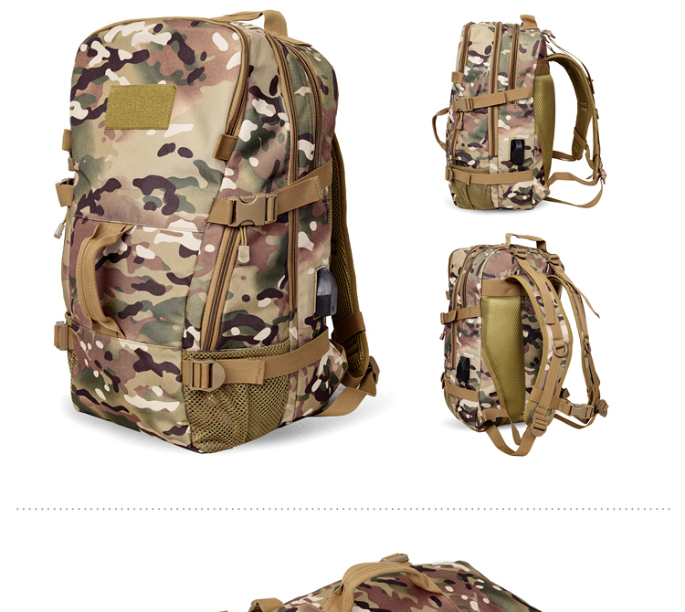 50L Rechargeable Outdoor sports Military Tactical Rucksack travel Camping Hiking Backpack climbing bag double shoulder outdoor bag (3)