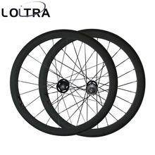 LOLTRA 50mm tubular fixed gear(track) carbon bicycle wheels single speed flip flop wheels 23mm/25mm Width U Shape(China)