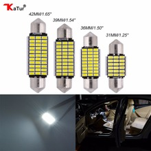2pcs Led Dome light Trunk Lamp Auto Interior Lighting For Cars Light-emitting Diode 31mm 36mm 39mm 42mm LED Car Ceiling Lights(China)