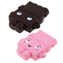 Cute Cartoon Chocolate Squishy Soft Slow Rising Scented Gift For Kids Boy Girl Fun Squeeze Toy