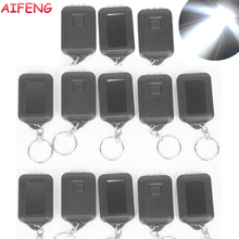 AIFENG 13PCS Led Flashlight Mini 3Leds Solar Powered Flashlight KeyChain Light Torch Ring Rechargeable Led Flashlight Beam White