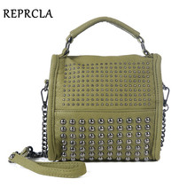 High Quality Rivet Women Bags Luxury Handbags Famous Brand Designer Shoulder Bag PU Leather Small Evening Bags Cross Body(China)