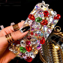 3D Luxury Bling Crystal Diamond Phone Case For HTC Wildfire S A510e G13 Girly Sparkle Jewelry Coque Fox Perfume Cover Pink Funda