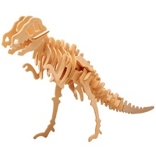Funny 3D Wooden Dinosaur Puzzle DIY Simulation Model Children Educational Toys 3D Jigsaw For Kids Gifts