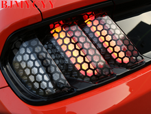 BJMYCYY Tail Lights Film Black Trims Cover Paste Honeycomb Beehive Style Protector For Ford Mustang 15 Up Free Shipping(China)
