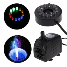 25W 960L/h Submersible Fountain Pool Water Pump with 12 LED Fish Tank Aquarium Fountain Pond Pool Pumps Decoration(China)