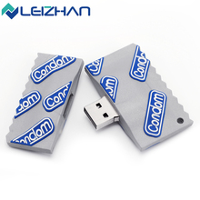LEIZHAN Condom USB Flash Drive 16GB Multiple Novelty Durable Gift Pen Drive 8GB USB 2.0 32GB Pendrives 4GB Memory Stick(China)