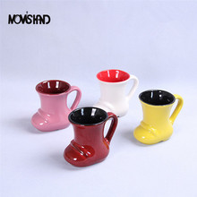 MOM'S HAND New Original Christmas Mugs Ceramic Coffee Tea Milk 3D Christmas Shoes Cup Lovely Gift(China)