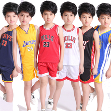 Newer Kids Basketball Jerseys Sets Uniforms kits Child Sports clothes Breathable Youth sports running jersey shirts shorts