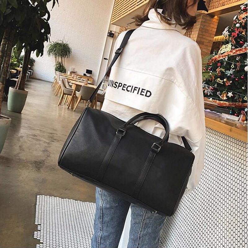2018 Real leather Outdoor Sport Gym Bag Men Women Shoes Storage Training Fitness  Multi-function Shoulder Bag Travel Yoga HandBag   Sports Wear Hub 0425bd427c