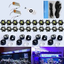 2016 Real 2.4g Rf Wireless Remote Control Dimmable 60w 72w 90w 120w 150w Aquarium Led Light for Coral Reef Tank Lighting