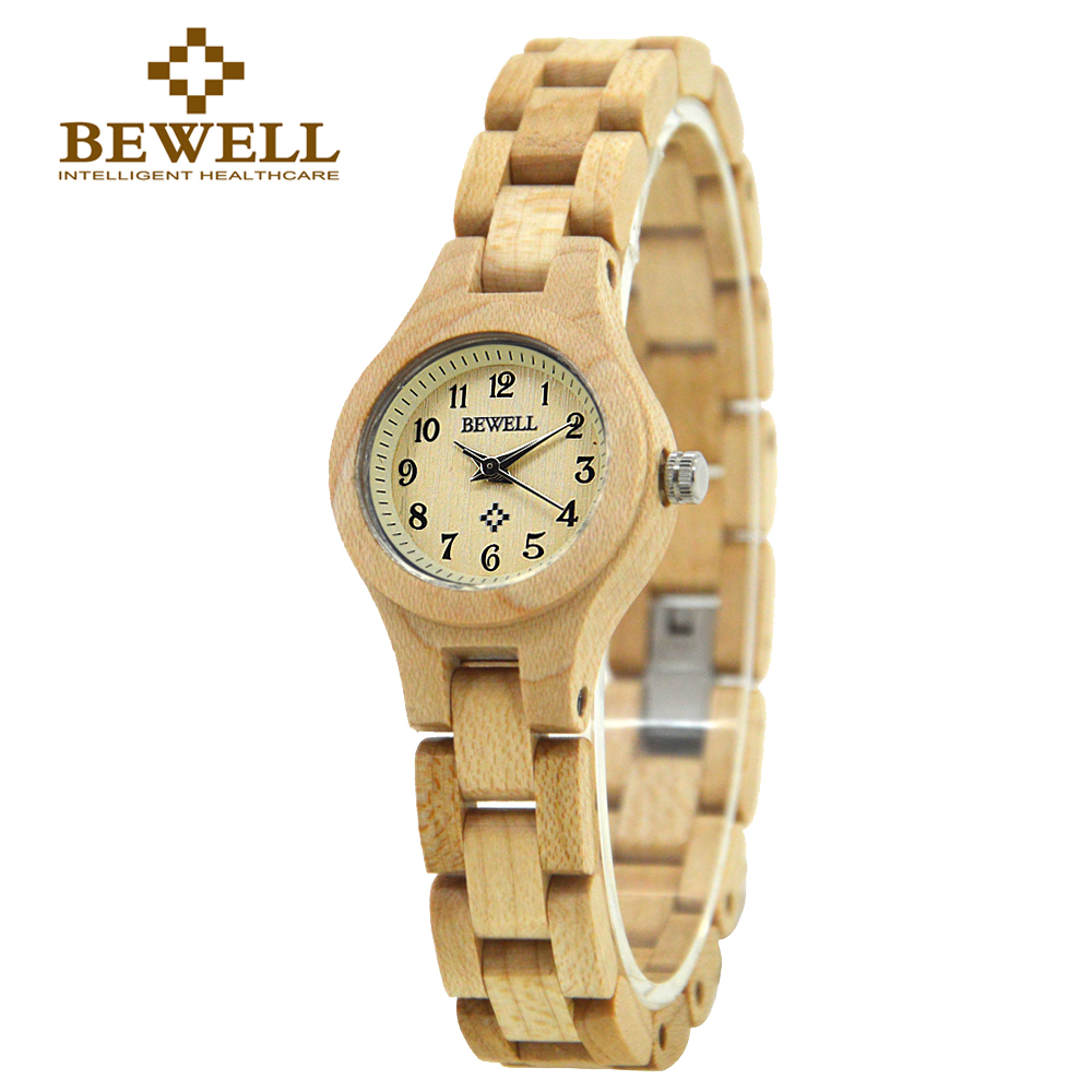 BEWELL Wood Watch Women WristWatch bracelet watches ladies Fashion Wooden Watch for Girls very Small and Simple display 123A<br><br>Aliexpress