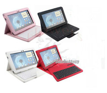 Detachable Wireless Bluetooth Keyboard +Leather Case Cover Holder Stander For Samsung Galaxy Note 10.1 N8000 N8010