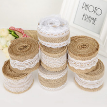 BESDIA Burlap Ribbon Vintage Wedding Centerpieces Decoration Sisal Lace Trim Jute Hessian Rustic Event Party Cake Supplies