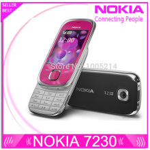 Refurbished Original Nokia 7230 mobile phone 3.2MP Camera Bluetooth FM JAVA MP3 Support Russian keyboard refurbished