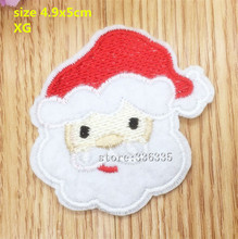CPAM Shipping new arrival 10 pcs Father Christmas Embroidered patch XG Motif Applique garment embroidery patch DIY accessory
