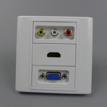VGA, 3RCA AV and hdmi wall plate with back side screw connectors