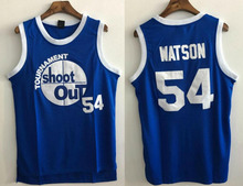 Basketball Jersey Above The Rim Kyle Watson 54# Tournament Shoot Out Basketball Jersey Blue Cheap Throwback Jersey Sleeveless(China)