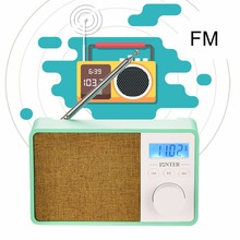 Portable Wireless Bluetooth Speaker Radio FM Receiver LCD Time Display Hand-free Call Support TF Card Slot AUX Input HD Voice