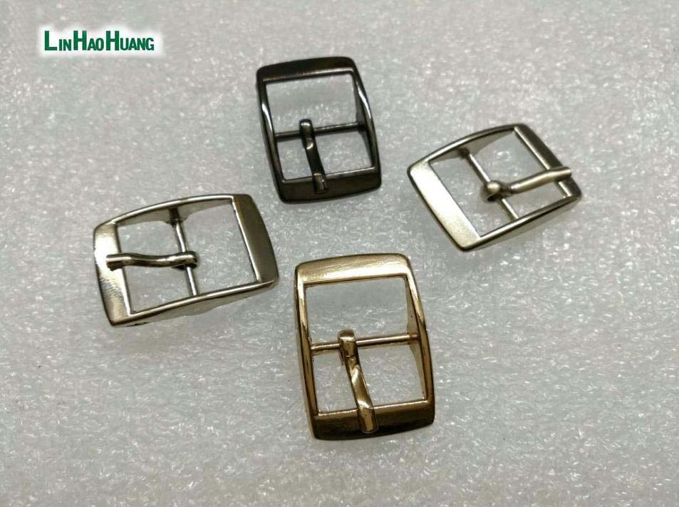 40pcs/lot metal 14mm shoe buckle pin alloy belt buckle high polished silver/black/gold free shipping 2015061205(China (Mainland))