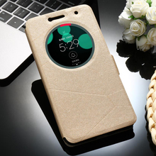 Sands Grain PU Leather Mobile Phone Cases for Asus Zenfone 3 Deluxe Zenfone3 ZS550KL 5.5 inch Cover Smart Sleep Function Bags