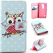 Wallet PU Leather Phone Case Cover Flip Shell Back Cover&Card Holder Stand Cell Phone Cover Case For LG Bello D337/LS 770