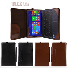 "Luxury 2in1 Leather Case With Detachable Keyboard Station Protective Cover For Asus Transformer Book T100 T100TA 10.1"" Tablet"