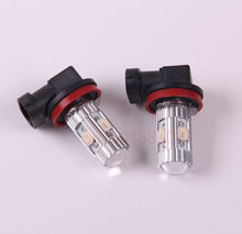 Free Shipping 2Pcs/Lot car-styling H8 Car Led Lamp light 12v Parking lamp Light Bulb For BMW X6 E71 E72 ActiveHybrid 2009