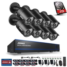 ANNKE Security Camera System 8ch CCTV System 8 X 1080P CCTV Camera Surveillance System Kit Camaras Seguridad Home 2TB HDD(China)