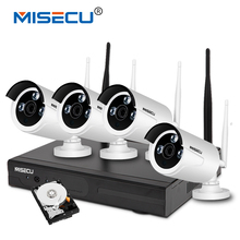 MISECU plug&play 720P 1080P VGA/HDMI 4CH HD NVR wifi KIT 2TB HDD Wireless nvr 30-50m signal P2P WIFI IP Camera Waterproof CCTV