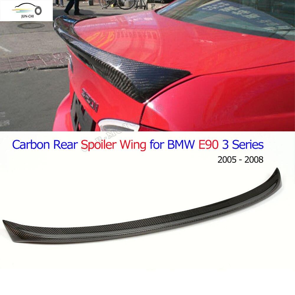 E90 Carbon Fiber Rear Spoiler Wing for BMW E90 M tech M Sport 2005 2006 2007 2008 Tail Trunk Lid Boot Lip Wing Spoiler<br><br>Aliexpress