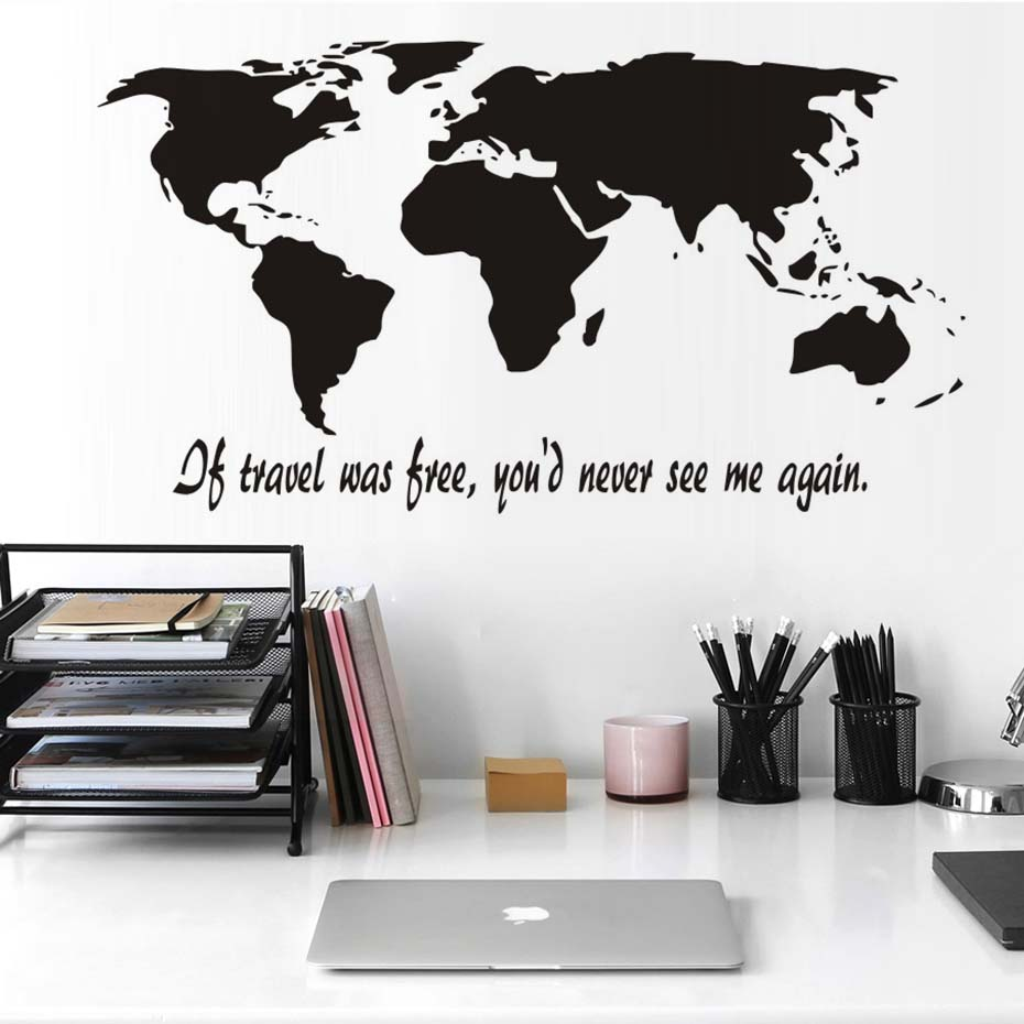 Adhesive Wall Art high quality vinyl wall art map promotion-shop for high quality