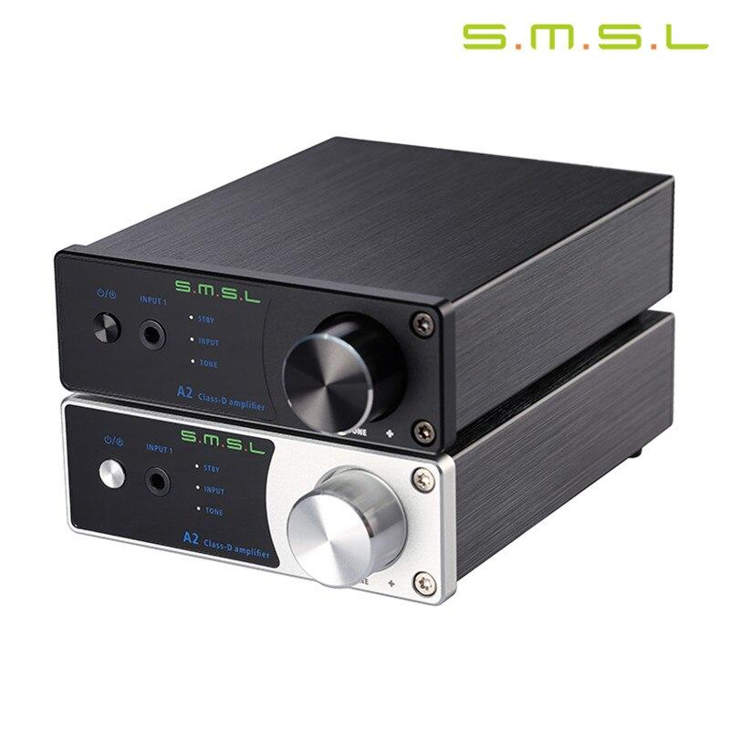 SMSL A2 TDA7492 40Wx2 HiFi 2.0 Pure Class d Digital Audio Power Amplifier Input AUX/RCA Active Subwoofer LED Display EQ Setting<br><br>Aliexpress