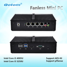 Qotom-Q330G4 / Q355G4 Fanless Mini PC Computer Core I3 4005U / I5 5250U Mini Server Industrial PC Support Pfsense AES-NI pfSense