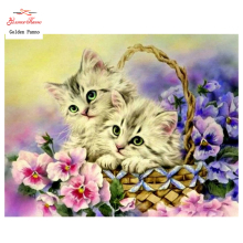 DIY 5D Full Diamonds Embroidery cat diamond Square 3D Diamond Painting Cross Stitch Kits Diamond Mosaic Home Decoration