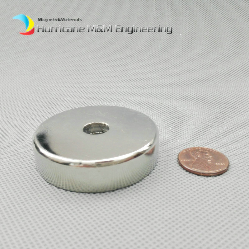 1 piece 62kg Pulling Pot Magnet Dia. 50 mm with M10 Countersunk Hole Mounting Magnetic Strong Magnet Neodymium Permanent Magnets<br>