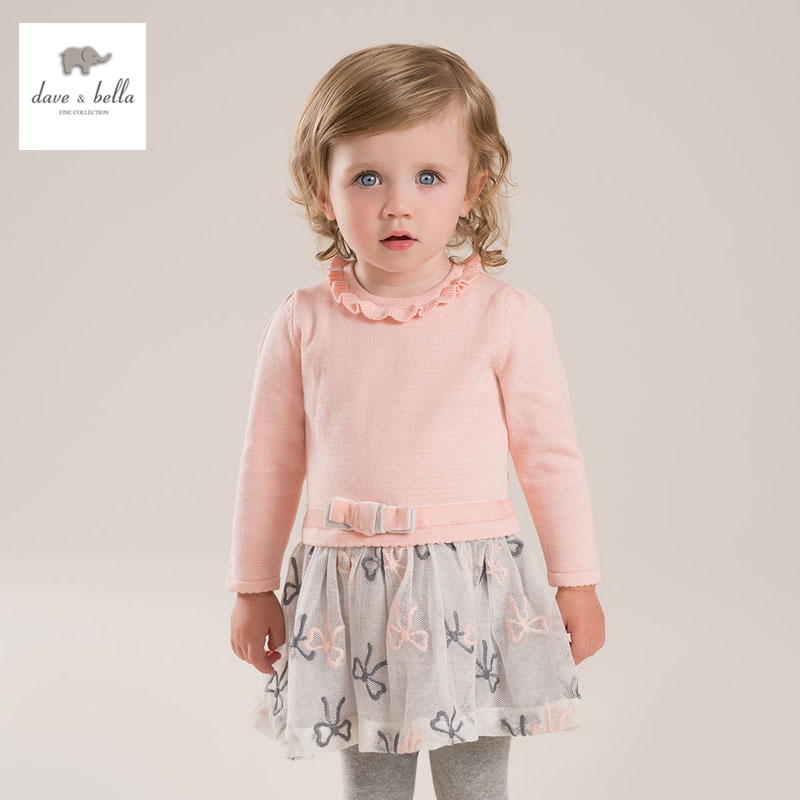 DB3908 dave bella spring new girls princess dress with net yarns fancy dress<br>