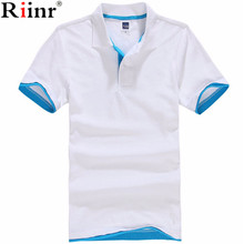 Riinr New 2017 Men's Brand Polo Shirt For Men Designer Polos Men Cotton Short Sleeve shirt Brands Jerseys Golftennis Casual Polo(China)