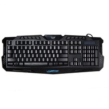 Illuminated LED Backlight keyboard USB Wired Multimedia PC Crack Gaming Keyboard For PC Laptop