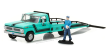 Green Light 1:64 1967-72 Ford F-350 Ramp Truck boutique alloy car toys for children Model original box freeshipping