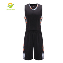 ZMDY Basketball clothes training suits Uniforms suit Breathable basketball jerseys sportswear throwback jerseys shirt & shorts