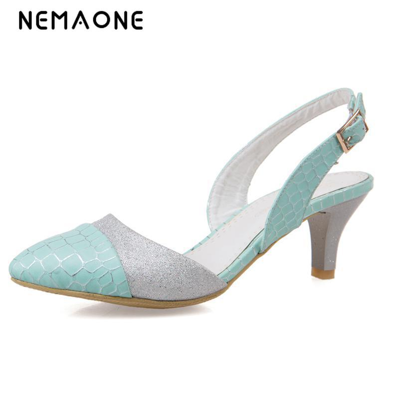 NEMAONE 2017 New summer women shoes thin high heels women sandals sexy superstar shoes elegant sandals femme large size 34-43<br>