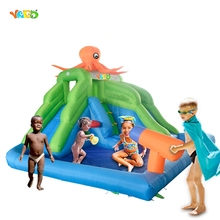 YARD Hot Selling Summer Bounce House Inflatable Water Slide Water Park Pool for Kids Backyard
