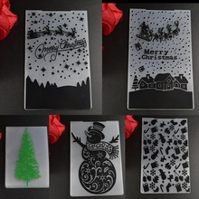 Xmas series Snowman/gifts/xmas tree EMBOSSING FOLDER DIY SCRAPBOOKING PHOTO ALBUM CARD CUTTING DIES TEMPLATE(China)