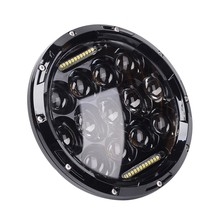 1pc H4 7'' inch headlight motorcycle led DRL projector daymaker Round 75w 7 inch headlamps head light for harley Jeep Wrangler